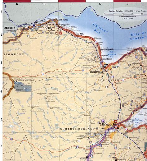 map of maine usa and new brunswick canada map of new brunswick my