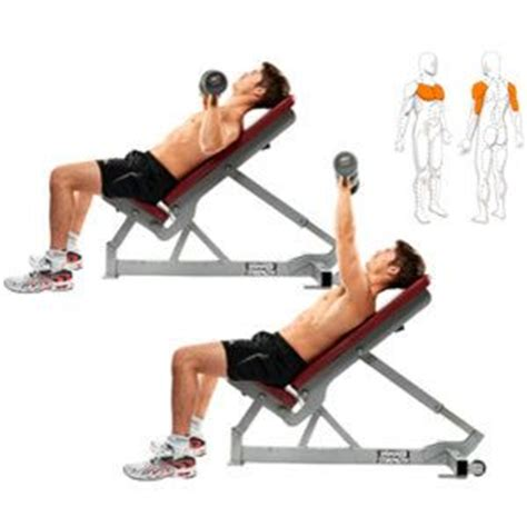 dumbbell exercises with bench incline chest press dumbbells fitness routine 1