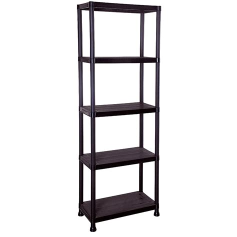 4 5 tier plastic shelving storage unit garage warehouse