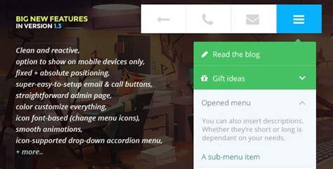 wordpress mobile layout plugin 20 best wordpress mobile menu plugins for 2015 designmaz
