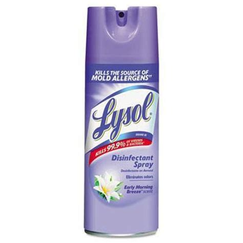 lysol early morning breeze disinfectant spray  ounce aerosol cans