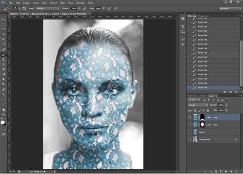 pattern mask photoshop photoshop tutorial how to apply a texture to a face by