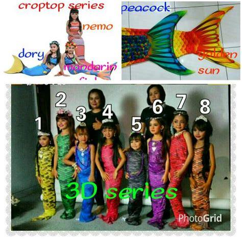 baju anak putri duyung jual baju renang putri duyung size anak l 8 10th 23 30kg