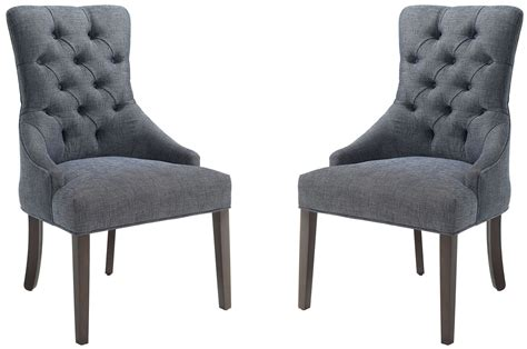 grey accent chair caprice grey upholstered accent chair set of 2 902912