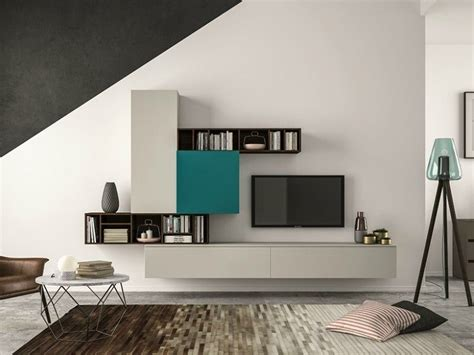 estantes de sala de estar moderna