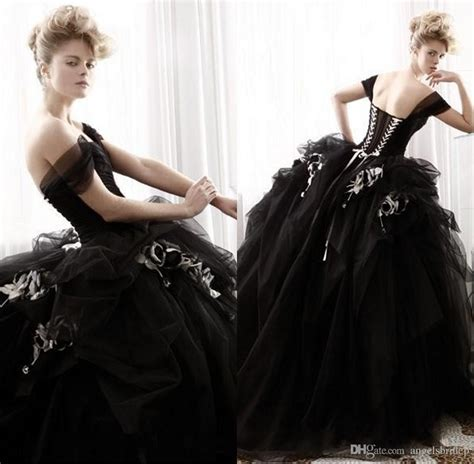 victorian black gothic wedding dresses ball gowns 2015 christmas wedding bridal gowns off the