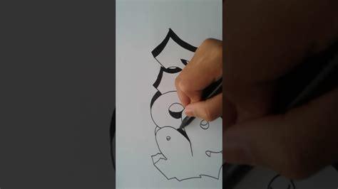 Tutorial Menggambar Graffiti   cara menggambar graffiti kertas youtube