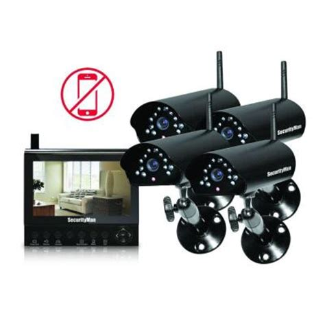 securityman 4 channel 4 wireless security system with 7