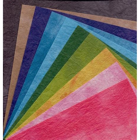 origami paper washi dyed momigami kozoshi 150 mm 10 sheets
