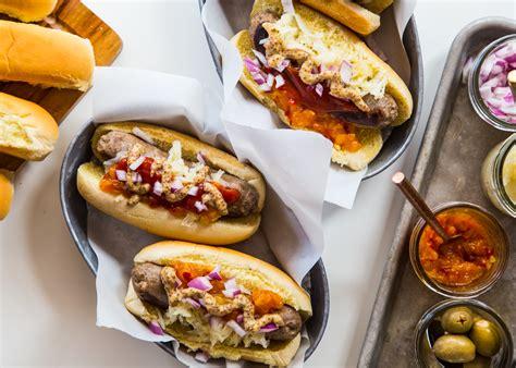brat hot dog bratwurst and hot dog bar jelly toast