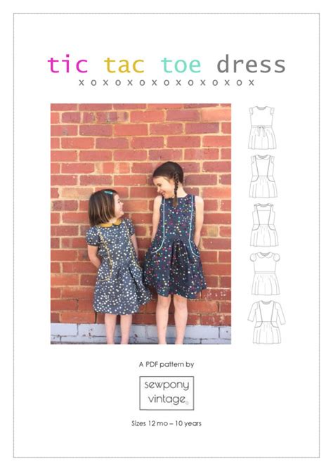 tic tac toe dress by sewponyvintage on etsy