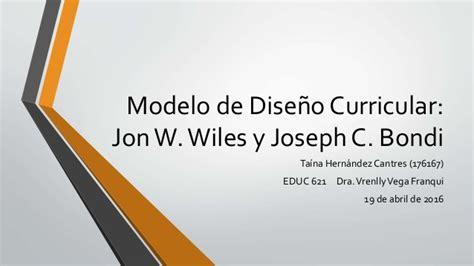 Modelo Curricular Wheeler Educ 621 Modelo De Dise 241 O Durricular De Wiles Bondi