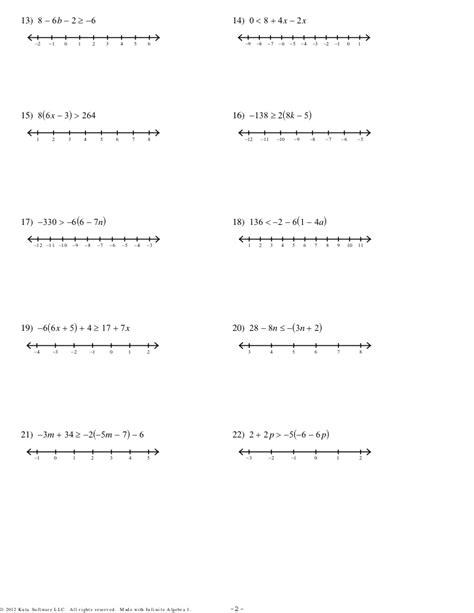 Solving Multi Step Equations Worksheet Pdf
