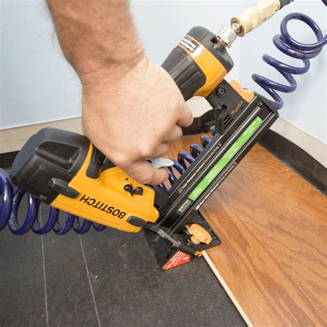 Hardwood Floor Nail Gun How To Install An Engineered Hardwood Floor
