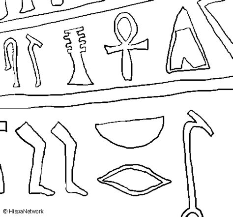 coloring pages for egyptian hieroglyphs egyptian hieroglyphs coloring page coloringcrew com