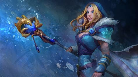 dota 2 rylai wallpaper crystal maiden dota 2 7k wallpaper hd