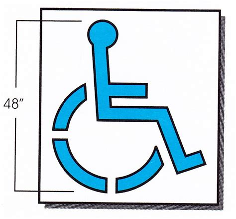 disabled parking template disabled parking symbol clipart best