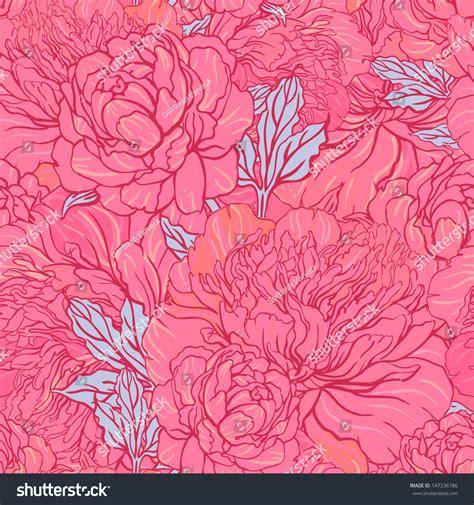 pattern elegant illustrator elegant seamless color peony pattern on stock vector