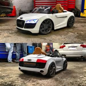 sons audi r8 power wheels that i lowered