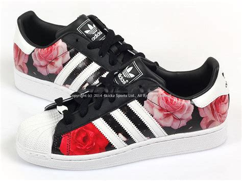 Adidas Pw Flower Black Original adidas originals superstar 2 w black white floral
