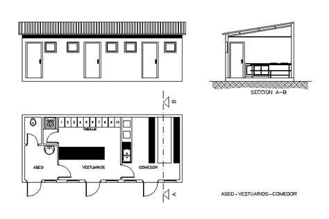Shed Español by Bloques Cad Autocad Arquitectura 2d 3d Dwg 3ds Library