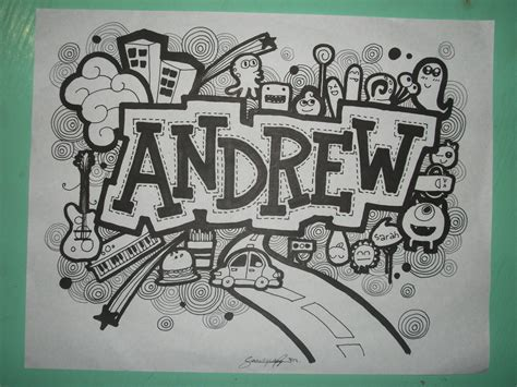 how to make doodle name for beginners doodle andrew by sarahrejinah on deviantart