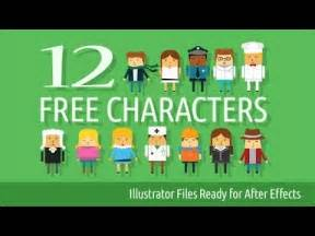 12 Free Characters Illustrator And After Effects Youtube After Effects Character Rig Template