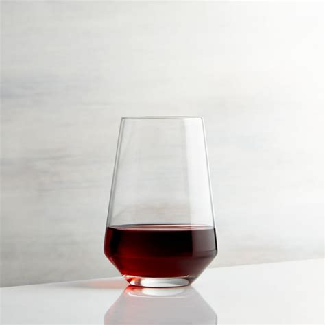 stemless wine glass crate  barrel