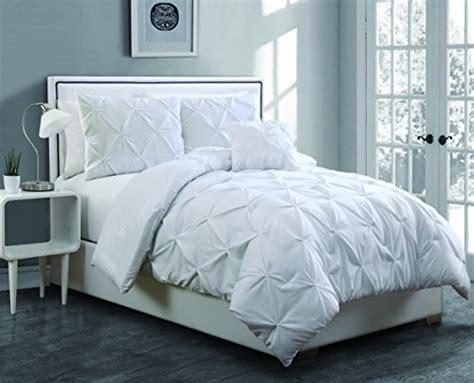 White Pinch Pleat Comforter by Geneva Home Fashion 3 Anabelle Pinch Pleat Comforter