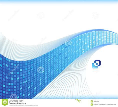 paper card wave template blue wave business card template stock vector