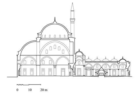 Architectural Drawings Hypothetical Cross Section Of The Architectural Plans Of Mosque