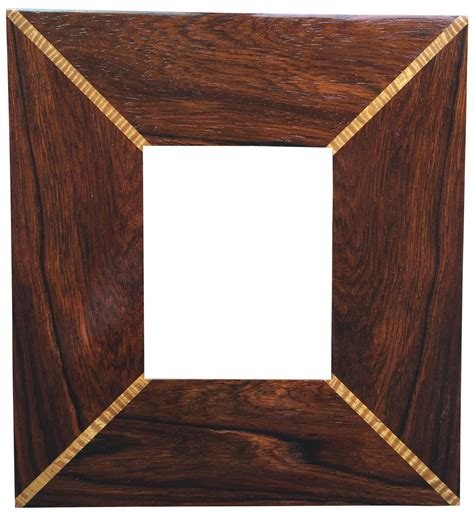 custom handmade wood inlaid frame chairish