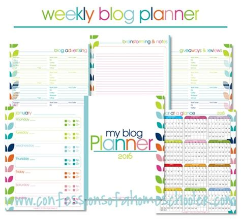 free printable school planner 2016 2016 free yearly blog planner confessions of a homeschooler