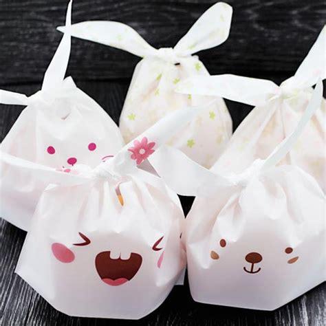 Rabbit Ear Cookie Bag 25pcs lot rabbit ear cookie bag plastic biscuit gift bags wedding birthday