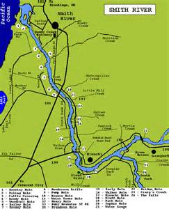 smith river oregon map fishing spots access on the smith river