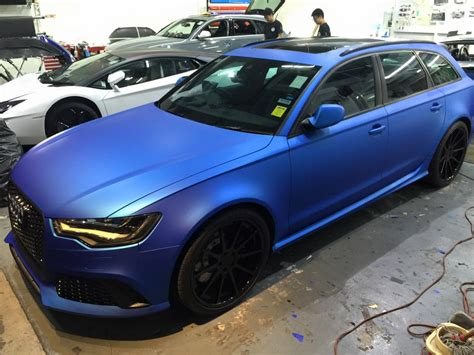 Audi Rs6 Matt by Matte Blue Audi Rs6 Is Serious Eye