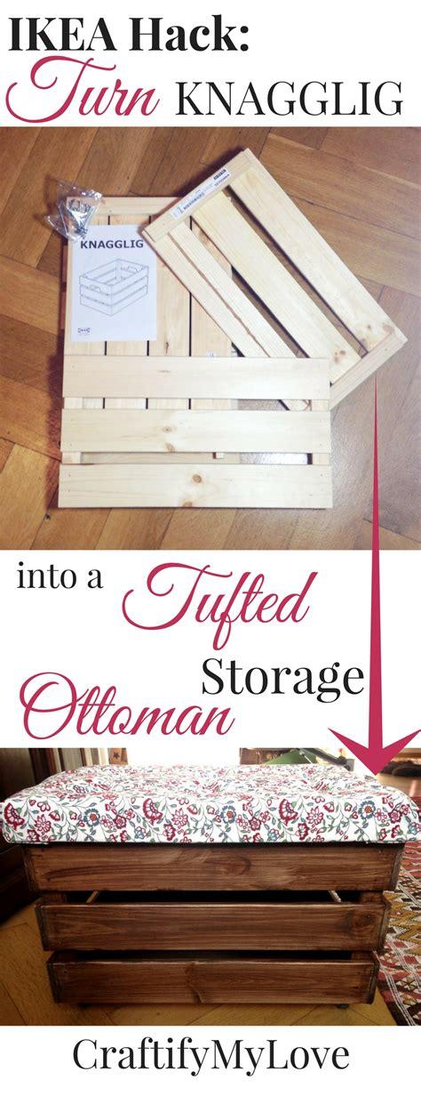ikea hack storage ottoman ikea hack tufted storage ottoman craftify my love