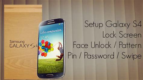 pattern unlock galaxy s4 galaxy s4 lock screen setup swipe face voice unlock