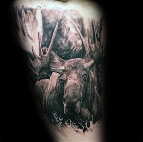 moose tattoos 60 moose designs for antler ink ideas