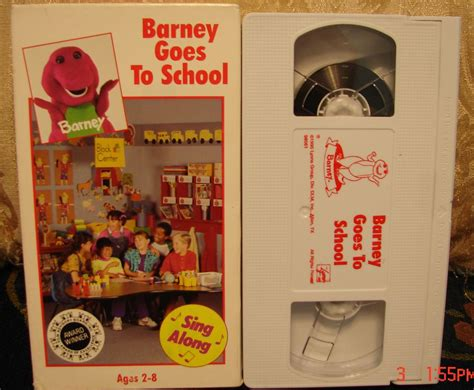 barney and the backyard gang barney goes to school barney goes to school vhs video rare free expedited ship