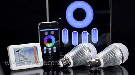 android light iphone and android phone controlled led light bulb mi light wifi rgb led light bulb