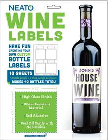 neato wine bottle labels high gloss 40 labels online
