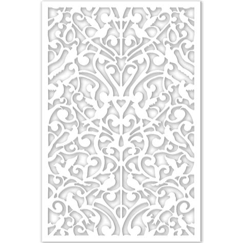 decor home depot acurio latticeworks 1 4 in x 32 in x 4 ft white ginger