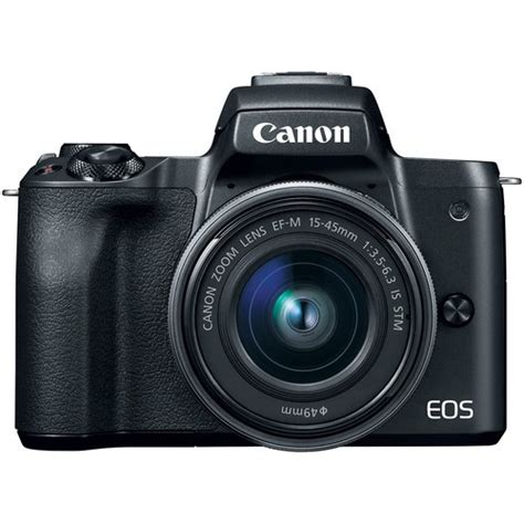 canon eos m50 mirrorless digital with 15 45mm lens
