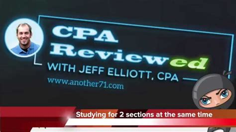 cpa section 5 study for 2 cpa exam sections at the same time youtube