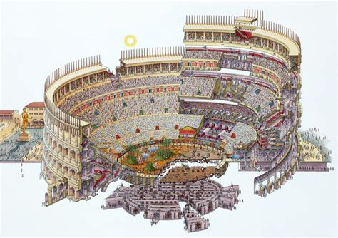 sections of italy colosseum section drawing colosseum flavian hitheater