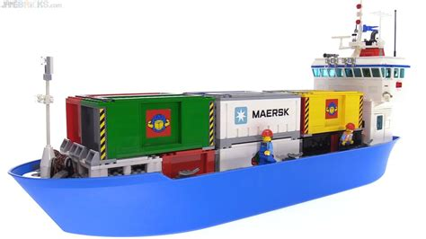 lego boat cargo custom lego container cargo ship moc youtube