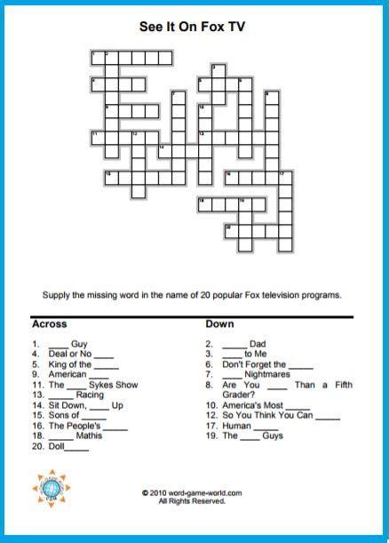 dvd format crossword 31 best crossword puzzles images on pinterest crossword