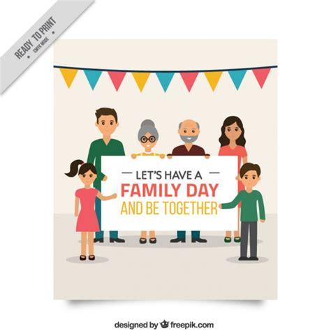 beautiful family beautiful family day card vector free