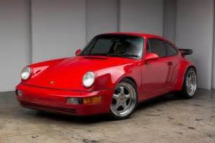 porsche 964 red beautiful red on tan 964 turbo speedline wheels serviced